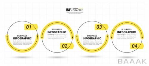 طرح اینفوگرافیک 4 مرحلهای کسب و کار