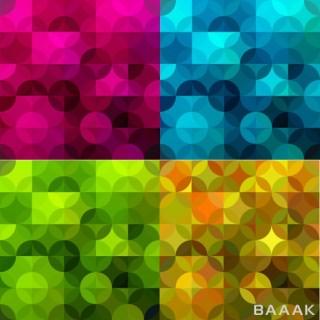 4 الگوی یگپارچه هندسی با رنگهای مختلف