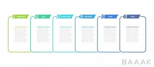 اینفوگرافیک 6 قسمتی کسب و کار برای ارائه