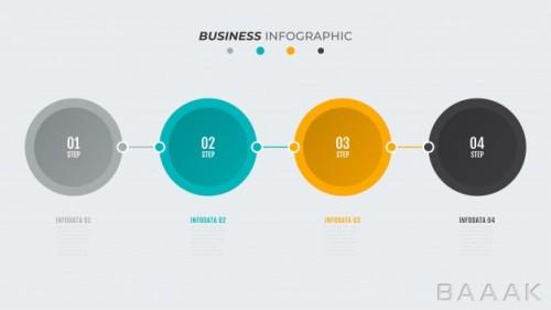اینفوگرافیک 4 مرحلهای جدول زمانی برای کسب و کار