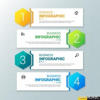 قالب اینفوگرافیک 4 قسمتی برای کسب و کار