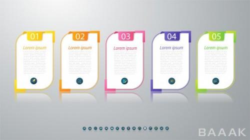 قالب اینفوگرافیک 5 قسمتی کسب و کار برای ارائه