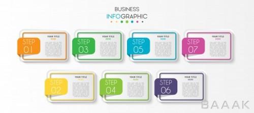 قالب اینفوگرافیک 7 مرحلهای کسب و کار برای ارائه