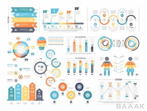 مجموعه اینفوگرافیک برای گزارش و تصویرسازی دادهها