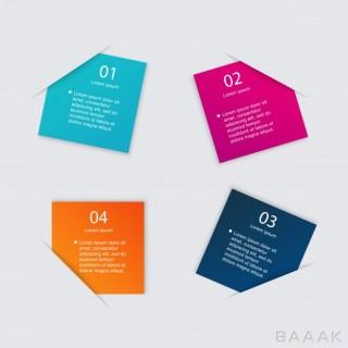 اینفوگرافیک 4 قسمتی همراه با باکس متن دلخواه برای ارائه