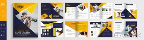 قالب بروشور تبلیغاتی با 16 صفحه مختلف