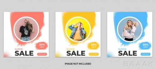 مجموعه قالب پست اینستاگرام با موضوع فروش محصولات