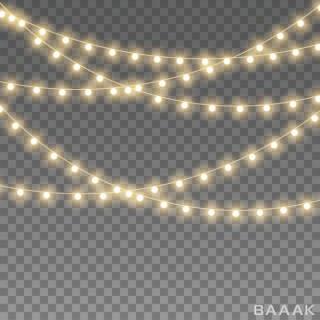 تصویر ریسه لامپ بدون پس زمینه