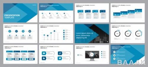 قالب ارائه همراه المانهای اینفوگرافیک برای کسب و کار