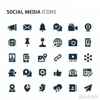 مجموعه آیکون فلت با موضوع شبکههای اجتماعی
