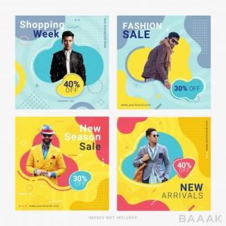 شبکه اجتماعی زیبا Fashion sale social media banner ad post template