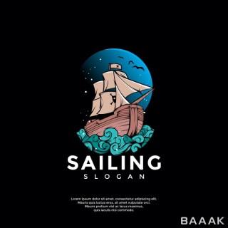 لوگو فوق العاده Ship adventure logo template