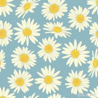 پترن مدرن و خلاقانه Floral seamless pattern with camomile