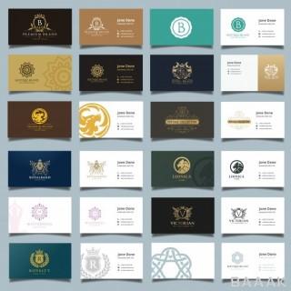 کارت ویزیت فوق العاده Business card brand identity template logo collection set