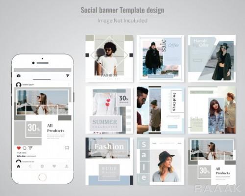 قالب پست اینستاگرام با موضوع مد، فشن و لباس