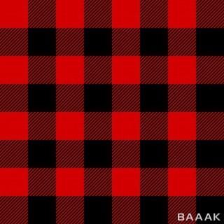 طرح الگوی یکپارچه با پس زمینه شطرنجی و رنگ قرمز و مشکی