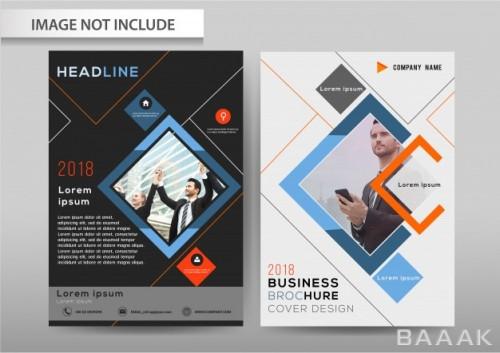 بروشور جذاب و مدرن Vector abstract background brochure flyer template a4 size design