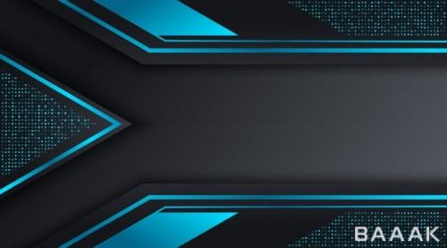 پس زمینه مدرن و جذاب Black blue techno corporate business background design template