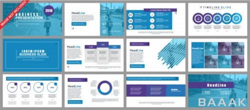 اینفوگرافیک خاص و خلاقانه Business powerpoint presentation slides templates from infographic elements