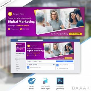 شبکه اجتماعی خاص Marketing business facebook timeline cover banner