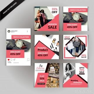 شبکه اجتماعی خلاقانه Fashion social media post template