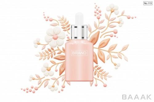 موکاپ فوق العاده Cosmetic product foundation shape flower white