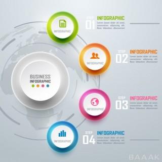 اینفوگرافیک خاص و خلاقانه Colorful business infographics diagram