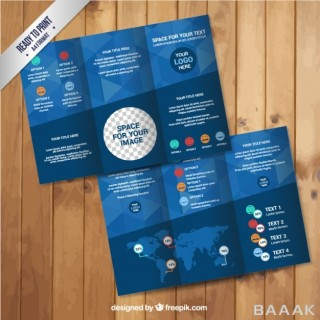 اینفوگرافیک زیبا Geometric infographic brochure