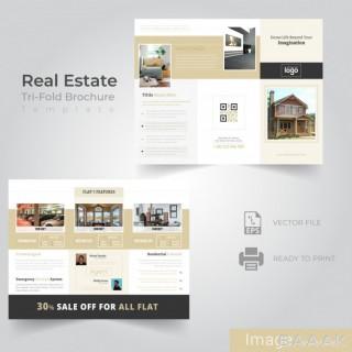 بروشور خاص Tri fold brochure design real estate company