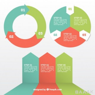 اینفوگرافیک خاص و خلاقانه Infographic elements set