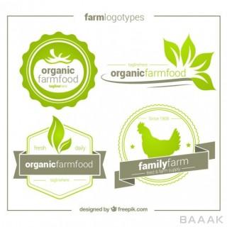 لوگو جذاب Pack four hand drawn organic logos
