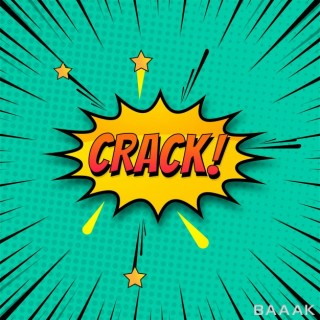 پس زمینه پرکاربرد Background crack comic style pop art colorful vector