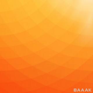 پس زمینه مدرن و خلاقانه Abstract geometric background orange yellow tones