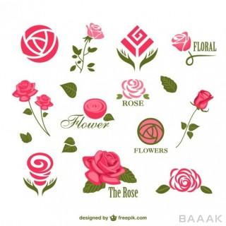 لوگو جذاب Abstract rose logos