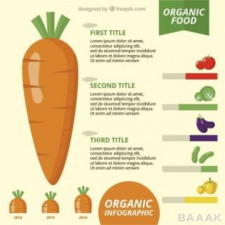 اینفوگرافیک مدرن و جذاب Health food infographic