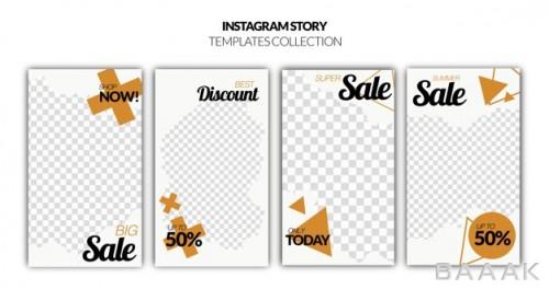 قالب اینستاگرام خاص و مدرن Set instagram stories sale banner