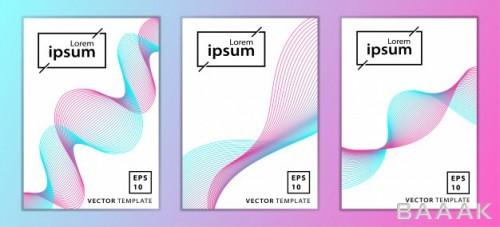 بروشور مدرن Set minimal business brochure cover design