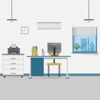 پس زمینه خاص و خلاقانه Office background design