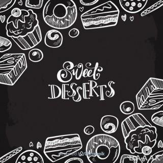پس زمینه زیبا و جذاب Blackboard food background