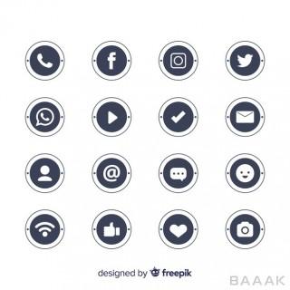 لوگو جذاب Social media logo collection