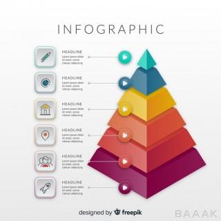 اینفوگرافیک زیبا Isometric infographic