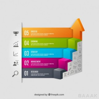 اینفوگرافیک مدرن و خلاقانه Staircase infographic