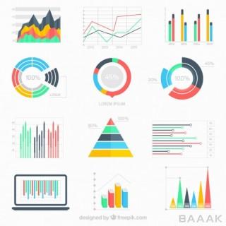 اینفوگرافیک جذاب Business data infographic