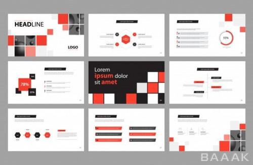 بروشور مدرن و جذاب Business presentation design brochure layout