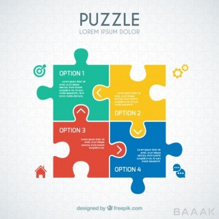 اینفوگرافیک مدرن و خلاقانه Puzzle infographic