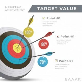 اینفوگرافیک زیبا و خاص Target value infographic
