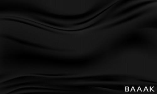 تصویر پس زمینه وکتوری با افکت مواج پارچه ای و رنگ مشکی