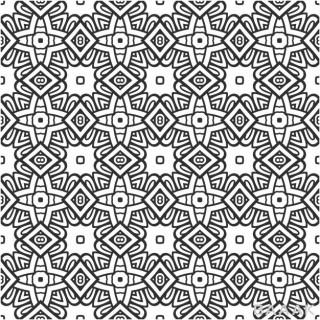 پترن جذاب هندسی مربعی شکل با استایل وینتیج