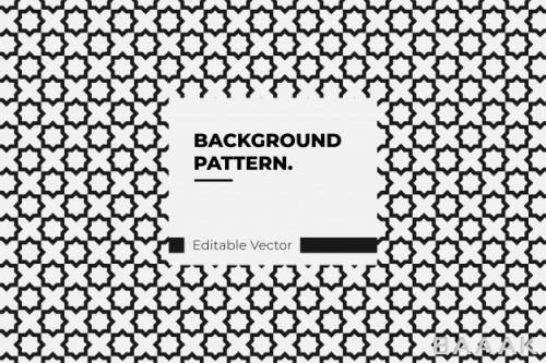 پترن جذاب و زینتی سیاه و سفید با اشکال هندسی شش ضلعی