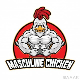 قالب لوگو جذاب مرغ ورزشکار